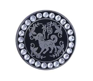 Bella Crystal Zodiac Silver-Dog Hat Clip Set