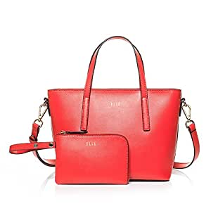 ELLE 女式  牛皮套包 TM151E60217RD 红色 均码