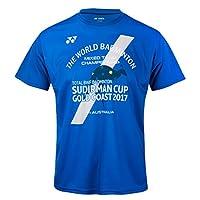 Yonex 尤尼克斯 苏迪曼杯纪念男士T恤 羽毛球服 6031CR 蓝色