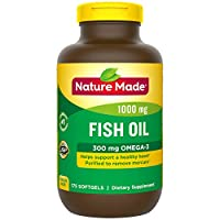 Nature Made Fish Oil 1000 Mg, Value Size, Softgels, 200-Count 175 Count 1