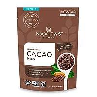 Navitas Organics 可可豆碎粒, 16 盎司(约 453.6 克)2 袋装-符合公平贸易、不含麸质
