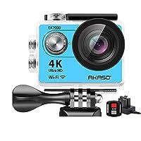 AKASO EK7000 4K WiFi 運動相機 超高清防水 DV 攝像機 12MP 170 度廣角EK7000  藍色