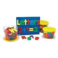 Learning Resources 大型磁性字母和数字组合套装
