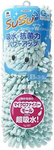 山崎产业 浴室防滑垫 吸水 超细纤维 SUSU (绒毛) 长度 W * 蓝色 1: S(36x50cm) 189984