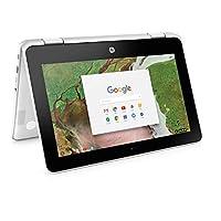"""2019 惠普 Chromebook x360 11.6"""" HD 高性能二合一平板电脑笔记本电脑,Intel Celeron N3350 高达 2.4GHz、4GB DDR4 RAM、32GB eMMC、2x2 802.11AC WiFi、蓝牙 4.2、USB 3.1、Chrome OS"""