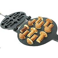 不粘涂层饼干模具胡桃蘑菇组合美味自制曲奇烘焙工具和配件饼干烘焙用具 10 Mushrooms