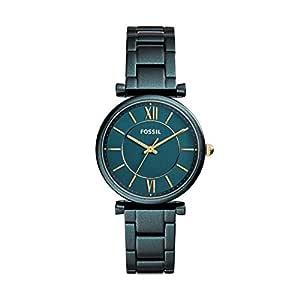 Fossil 女士指针石英手表不锈钢表链 ES4427