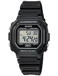 Casio 卡西欧 男式 f108WH Illuminator 系列黑色树脂表带数字手表