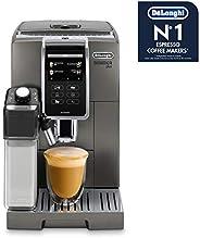 De'Longhi 德龙 Dinamica Plus ECAM 370.95.T 全自动咖啡机,带集成牛奶系统,3.5英寸TFT触摸屏和,应用程序控制,自动清洁,咖啡壶功能,34.8x23.6x42