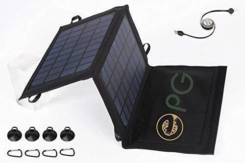 パワーを充電するためのePGesTMソーラー充電器、携帯スマートフォンやメディアデバイスの錠剤でありますコンパクトに折り畳ま。 7W、5V、1A