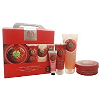 The Body Shop Unisex Exclusive Travel Collection Kit, Strawberry, 4 Count