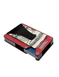 YOOMALL 铝制钱夹钱包信用卡包 RFID 屏蔽纤薄前口袋钱包