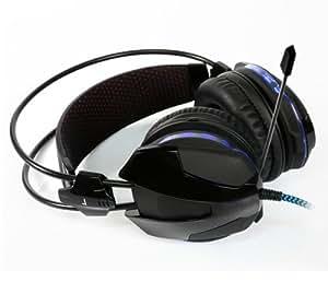 E-3LUE 宜博 眼镜蛇 EMS705 有线头戴式游戏耳机 耳麦 CF CS 可调节控制发光 5.1声道耳机