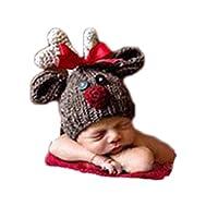 新生儿摄影道具圣诞婴儿照片拍摄服装服装婴儿衣服鹿帽