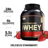 Optimum Nutrition 黄金标准乳清蛋白粉,美味的草莓味,5磅