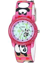 Timex 儿童TW7C771009J  Analog 尼龙 粉色 TW7C771009J watches