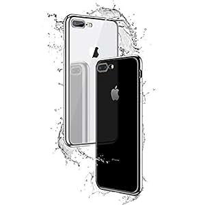 Zotoyi 手机壳,适用于 iPhone 7P 和 iPhone 8P 透明玻璃软边包裹式手机壳 5.5 英寸(iPhone 7P/8P)