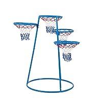 Angeles 4-Rings 篮球架带储物袋 – 121.92 厘米 x 91.44 厘米 x 137.16 厘米 – 适合 3 岁以上儿童 – 带有不同高度的 4 个篮筐,球收纳袋 – 鼓励积极玩耍,手眼协调 – 非尖底座