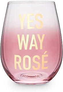 Yes Way Ros 20 盎司无柄酒杯 Blush 出品