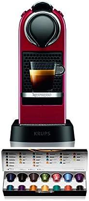 Krups 克鲁伯 Nespresso New CitiZ 胶囊咖啡机 XN7415(1260W,19bar泵压,水箱容量:1升),红色