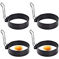 蛋环,圆形专业煎饼模具,烹饪鸡蛋锅环,不粘圆形蛋环模具适用于煎蛋McMuffin 三明治 4 件 4 件