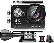 AKASO EK7000 4K WiFi 运动相机 超高清防水 DV 摄像机 12MP 170 度广角EK7000  底部 Compact 黑色