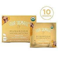 Four Sigmatic 金拿鐵 含香菇和姜黃,不含乳制品, USDA認證 含椰奶粉 - 美麗