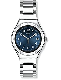 Swatch 女士数字石英手表不锈钢表链 - YGS474G
