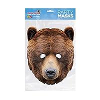 Rubie'S France - MBEAR001 - 面具 - 纸板熊