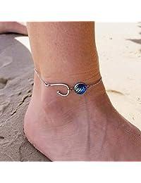 Tonkaobadin Nattypat 时尚脚踝手镯女式 925 纯银脚链沙滩