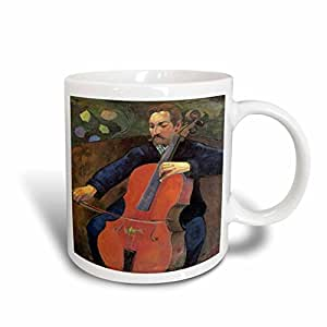 BLN Music Featured in Fine Art Collection - Upaupa Schneklud by Paul Gauguin, Man Playing a Cello - 15oz Mug (mug_171444_2)