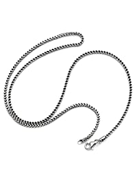 D Jewelry 925 纯银立体佛朗哥链项链 1.8mm 厚度 意大利制造