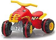 Jamara Little Quad 460576 滑块红色 - 由耐用的塑料牵引力超抓地橡胶圈制成