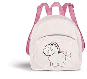 Nici 43262 Backpack Unicorn-Baby Theofina 24 x 26 x 10 厘米,白色/粉色