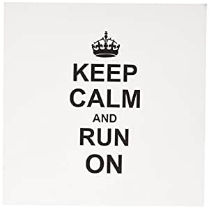 InspirationzStore Typography - Keep Calm and Run on - carry on running - track Runner athlete Gift - 有趣幽默 - 贺卡 Set of 6 Greeting Cards