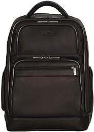 Kenneth Cole Reaction 哥伦比亚皮革双隔层双袋 15.6 英寸电脑背包 (Rfid) 笔记本电脑背包 棕色 均码