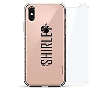豪华设计师,3D 印花,时尚气袋垫,360 度玻璃保护套装手机壳 iPhoneLUX-IXAIR360-NMSHIRLEY2 NAME: SHIRLEY, MODERN FONT STYLE 透明