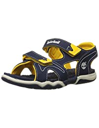 Timberland Adventure Seeker Two-Strap Sandal (Big Kid)Navy/Yellow7 M US Big Kid