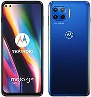 moto g 5G plus (5G, 6.7 英寸 FHD +, Qualcomm Snapdragon SD765, 48MP 四置摄像头系统,5000 毫安电池,双卡,4/64GB,Android 10),冲浪蓝
