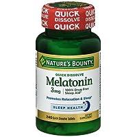 Natures Bounty Melatonin 3 Mg Quick Dissolve Tablets, 240 Ea (Pack of 2)