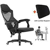 HOMEFUN 人体工程学办公椅,高背可调节网眼躺椅,办公桌办公椅,带扶手