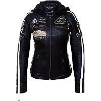 女士摩托车夹克,带保护装置