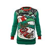 Ugly Christmas Sweater Company 男士长袖 7gg 圆领毛衣