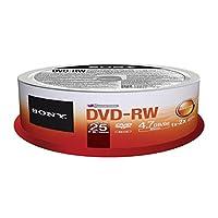 Sony 25DMW47SPM DVD-RW 2X 4.7GB Spindle Rewritable DVD, 25-Pack