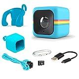 Polaroid Cube Act II - 高清 1080p 可安装防风雨生活方式动作摄像机和 6 万像素静音摄像头,带图像稳定、录音、低光能力和其他更新功能AMZ-POLCUBELSBL 蓝色