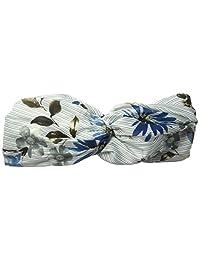 BCBGeneration 女式细条纹花卉头带,灰色,均码