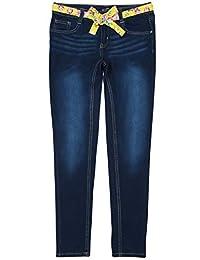 dELias 女童超弹力牛仔布,配彩色腰带
