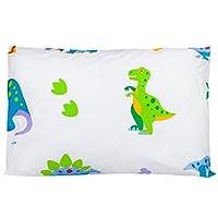 Wildkin 橄榄色童话公主低*性幼儿枕头,13 1/2 x 19 恐龙土地 13 1/2 x 19 恐龙土地