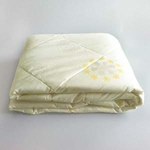 SMO 思侬 单人学生宿舍磨毛夏凉被 夏被空调被夏天薄被子被芯 米黄色 200X230cm