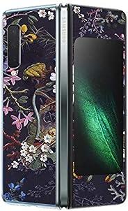 MightySkins 三星 Galaxy Fold 碳纤维皮肤 | 保护性耐用纹理碳纤维表面 | 易于应用、拆卸和改变风格 | 美国制造SAGFO-Midnight Blossom  Midnight Blossom